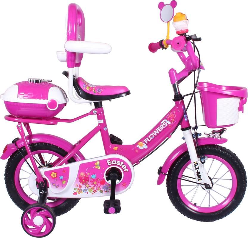 43c71bd0c239 HLX-NMC KIDS BICYCLE 12 BOWTIE PINK/WHITE 12 T Recreation Cycle (Single  Speed, Pink, White)