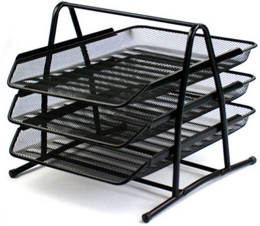 Fullhouz 4 Compartments Metal Doent Tray Or Office File Rack