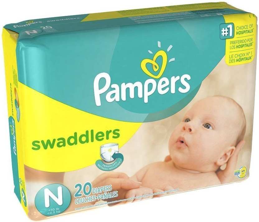 Up to 10 lbs. 20 Count Newborn Pampers Swaddlers Diapers