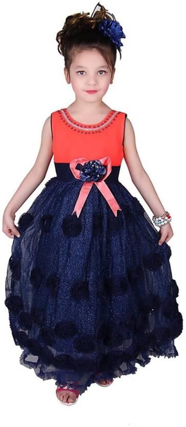 2bcebd67f Ishika Garments Girls Maxi Full Length Party Dress Price in India ...