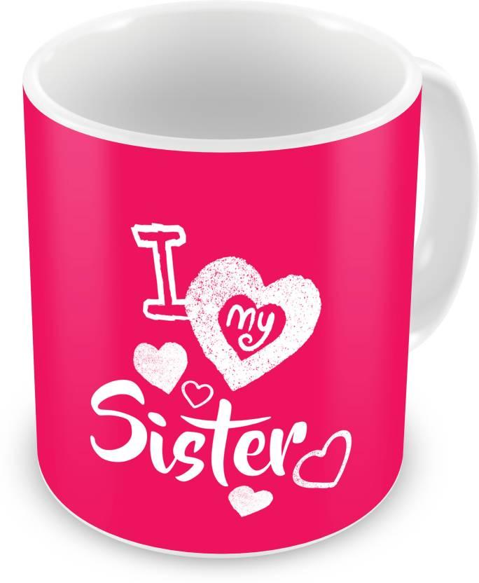 indibni Return Gift for Raksha Bandhan Rakhi Gifts for Sister on Bhaidooj Birthday Anniversary (IDSRAF16176) Ceramic Mug  (330 ml)- 78% OFF