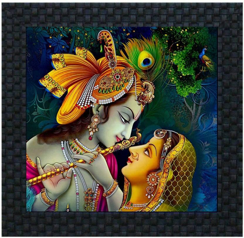 DivineCrafts Radha Krishna Canvas Painting Price in India ...