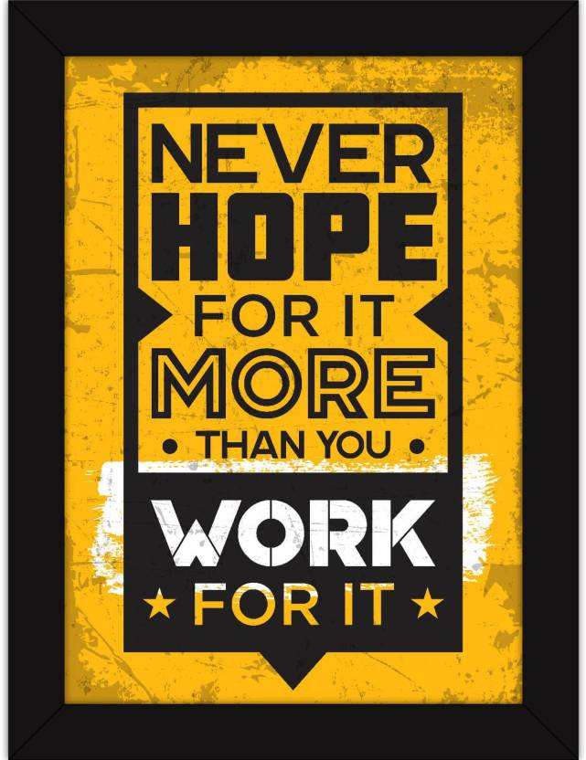 Motivational Posters With Frames For Office Desk Home And Gym Inspiring Quotes Never Hope More Fine Art Print 13 Inch X 10