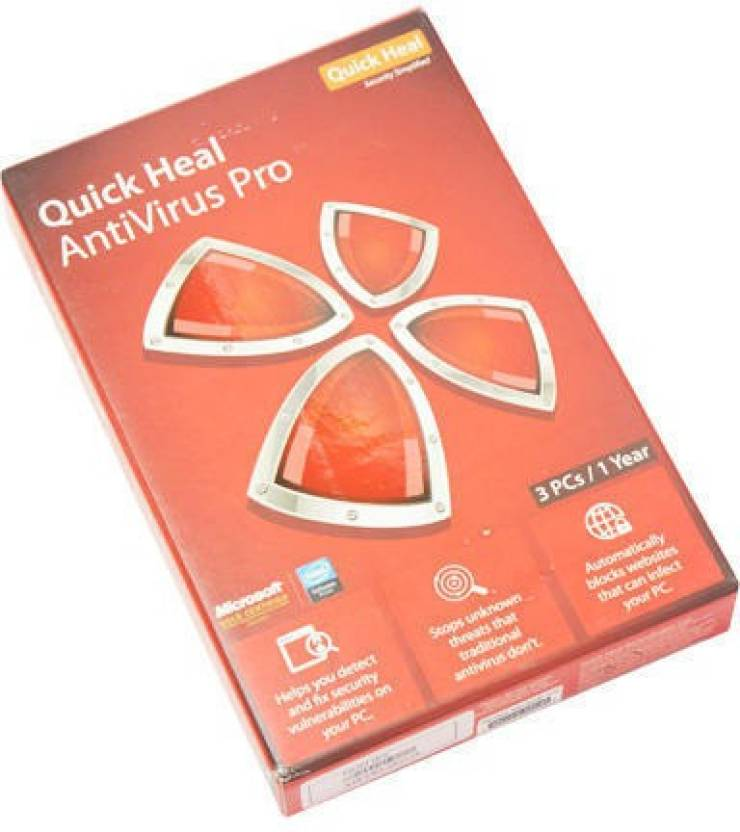 Quick Heal Antivirus pro 3 pc for 1 year