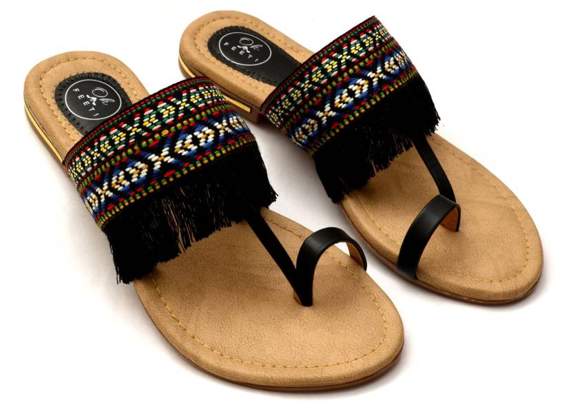 ee2da470b2a Oh Feet! Slippers - Buy Black Color Oh Feet! Slippers Online at Best Price  - Shop Online for Footwears in India