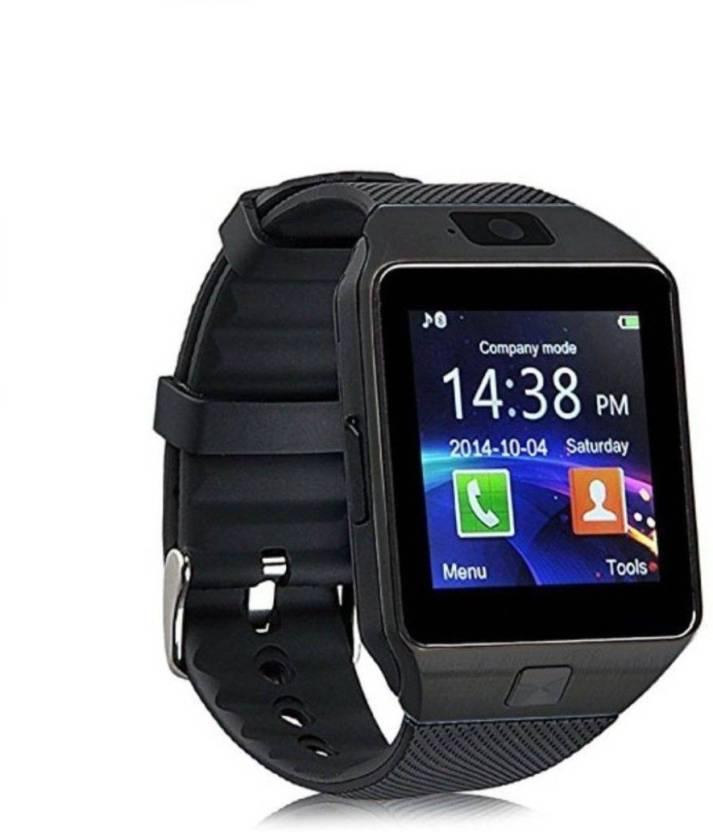 OKTATA DZ09 BLUETOOTH WITH SIM CARD & TF/SD CARD SUPPORT Black Smartwatch