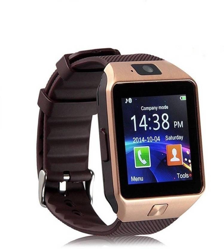 OKTATA DZ09 BLUETOOTH WITH SIM CARD & TF/SD CARD SUPPORT Brown Smartwatch
