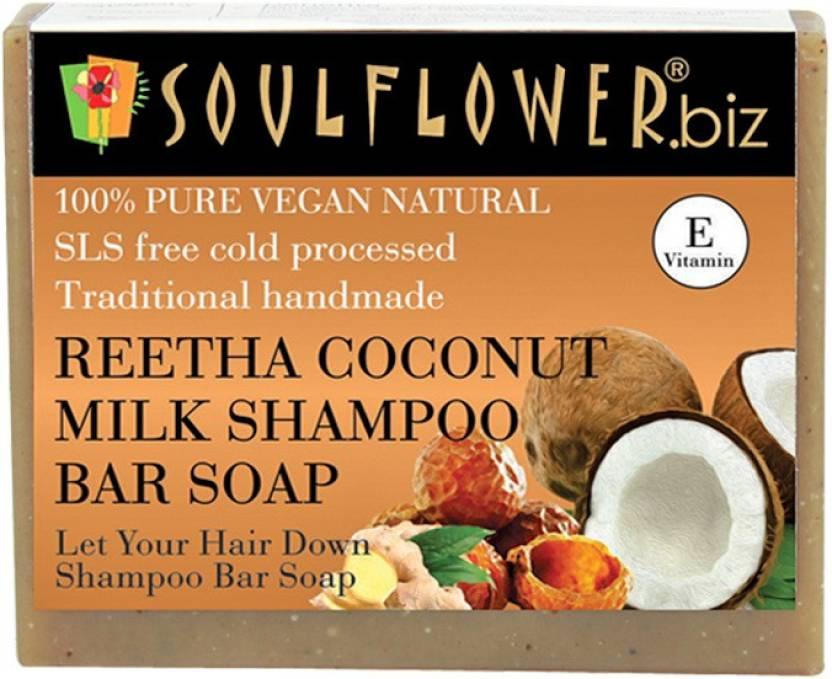 Soulflower Reetha, Coconut Milk Shampoo Bar Soap