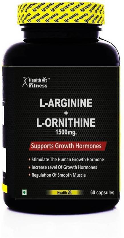 HealthVit L-Arginine + L-Ornithine 1500mg 60 Capsules Price in India ... ec184669a30a