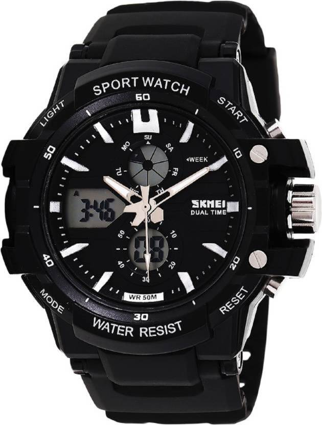 Skmei AD0990-Silver Sports Watch - For Men