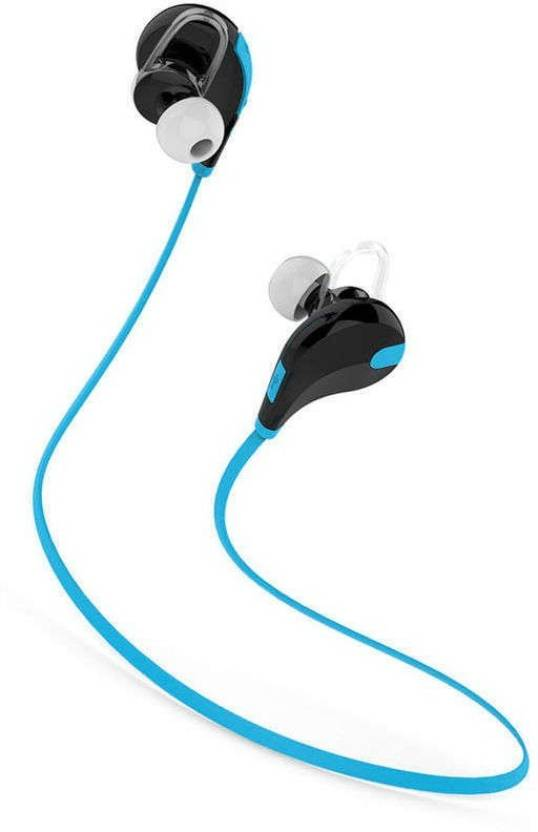 Wonder World ® JOGGER QY7 Neutral Stereo Earphone Sport Headphone With Microphone Bluetooth Headset Blue, Black, In the Ear
