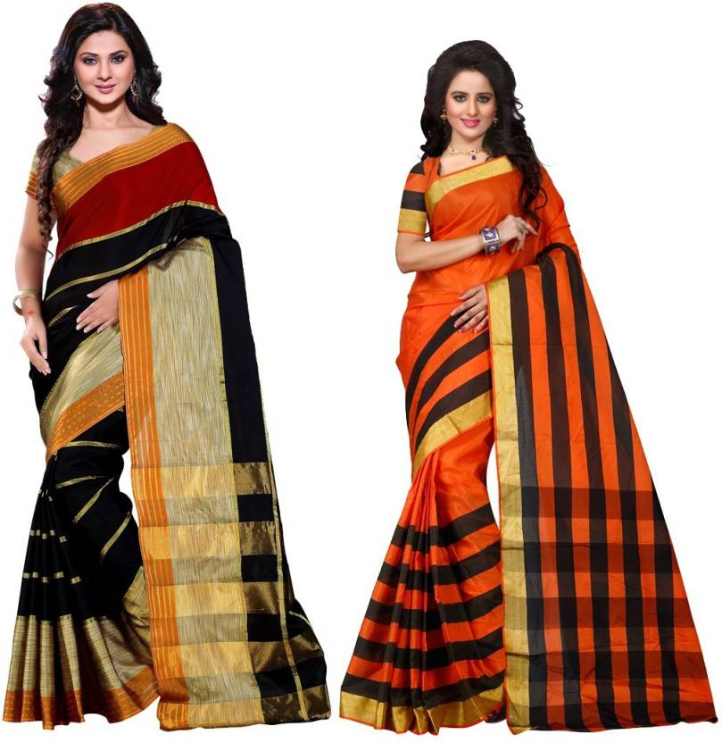 2985890a115 Buy Trendz Style Printed Fashion Silk Cotton Blend Multicolor Sarees ...