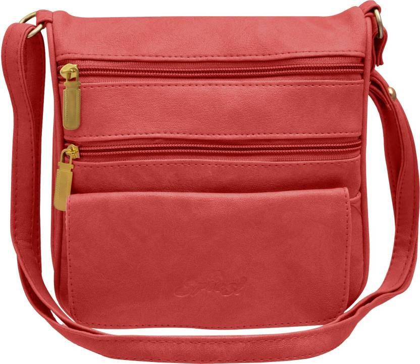 Tap Fashion Women Casual Pink PU Sling Bag Pink - Price in India ... 539e227e43c68