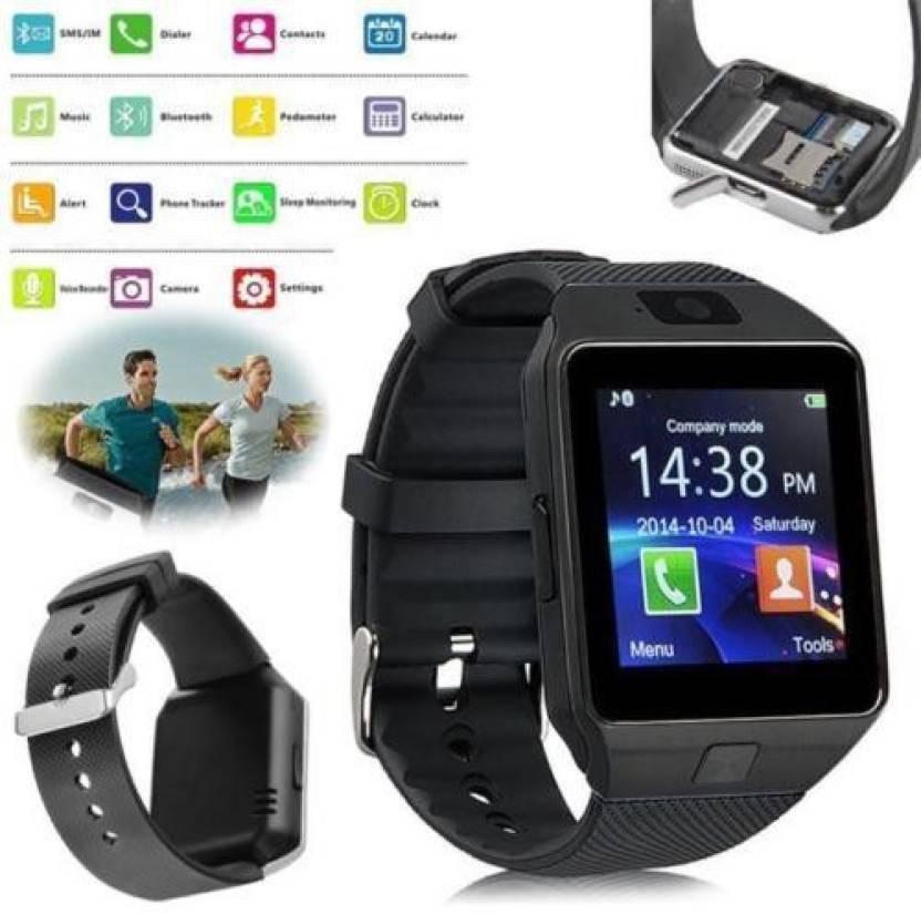Generic Watchphone Bluetooth, Sim, Memory Card Slot, Camera Fitness Tracker Black Smartwatch