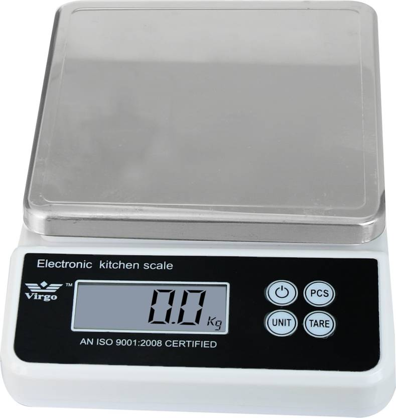 Zblack Virgo Electronic steel Plastic Kitchen 10 Kg Weighing Scale