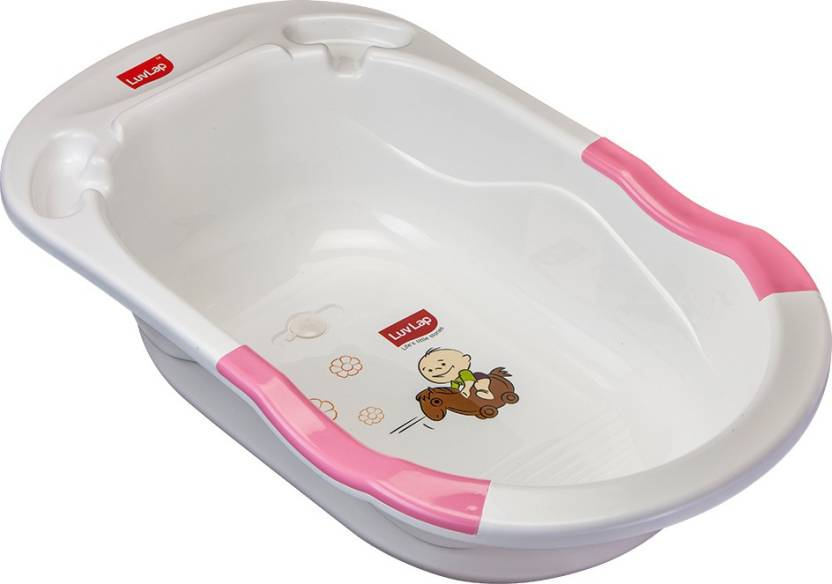 LuvLap Baby Bubble Bathtub with Anti-Slip - Pink Price in India ...