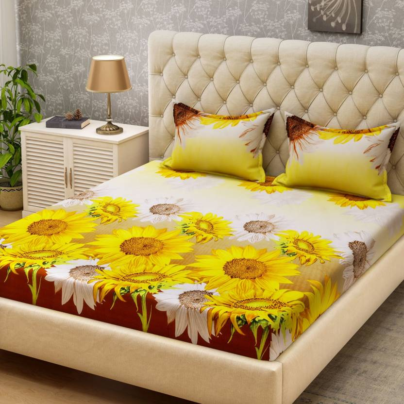 Bombay Dyeing Microfiber Printed Double Bedsheet
