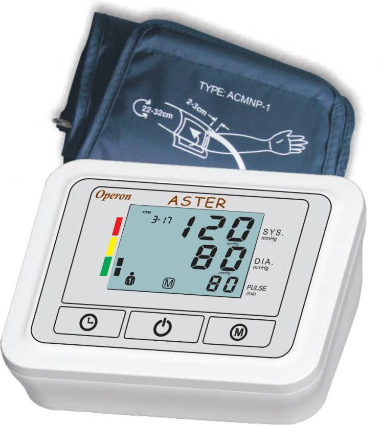 Operon BP 360A Aster Bp Monitor  (WHITE/GREY)- 60% OFF