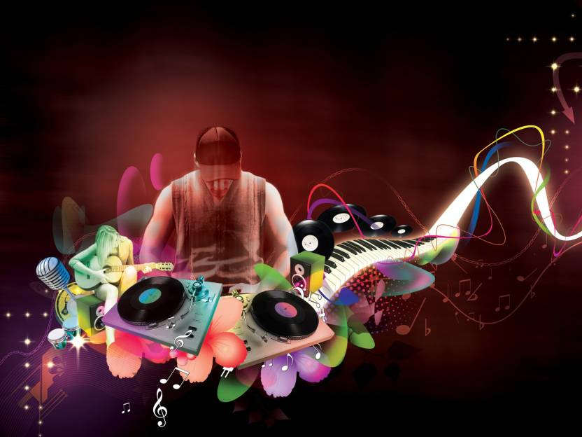 Music Dj Hip Hop DJ Electro Hadi Bakalim HD Wallpaper Background Fine Art Print