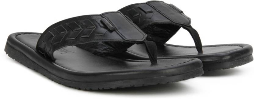 657ea96e605b Woodland Leather Flip Flops - Buy BLACK Color Woodland Leather Flip ...