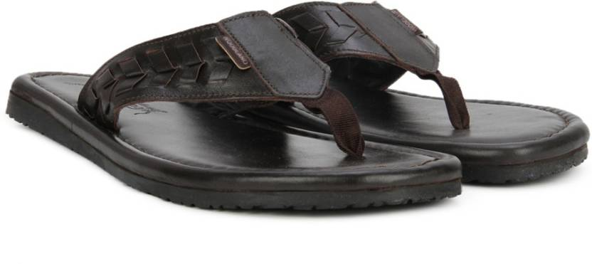 1ccff4758ad Woodland Leather Flip Flops - Buy DBROWN Color Woodland Leather Flip ...