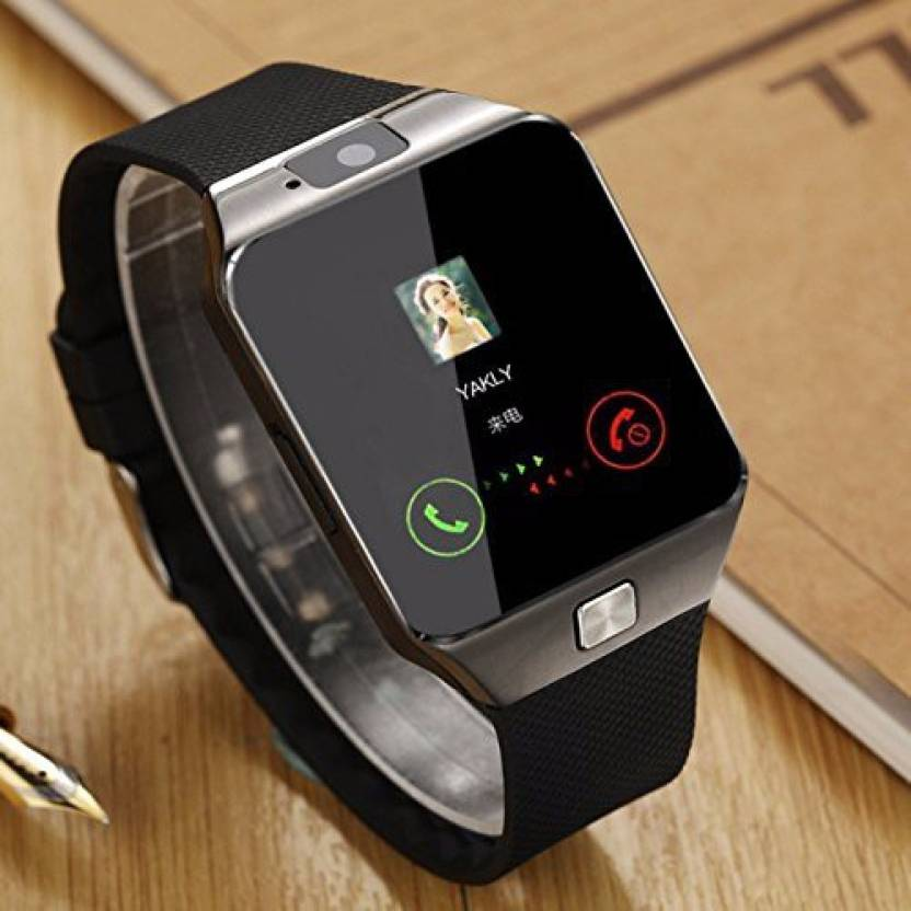Shopkeeda Services Sim Card and Memory Cards Supported Bluetooth Android and IOS Series Smartwatch  (Black Strap)