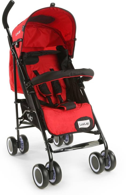 LuvLap City Baby Buggy Stroller - Red  (3, Red)