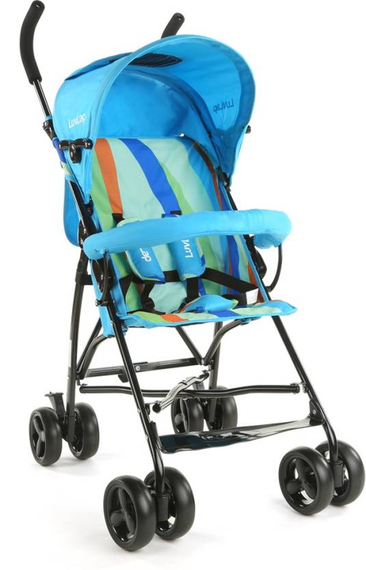 LuvLap Tutti Frutti Baby Buggy - Light Blue  (3, Blue)