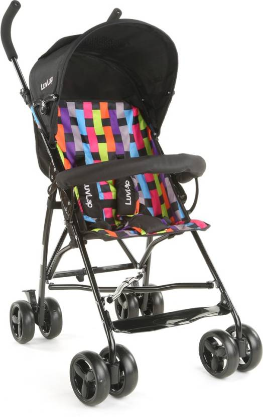 LuvLap Tutti Frutti Baby Buggy -Printed Black  (3, Black)
