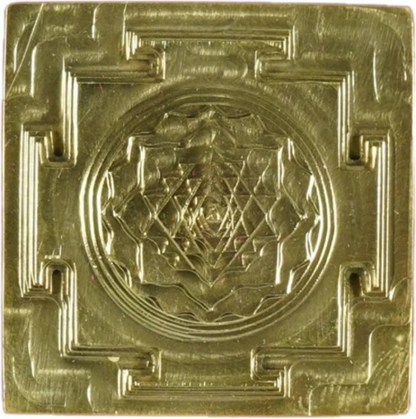 Ultra Energized 3D Shree Sri yantra - Mandala Brass with