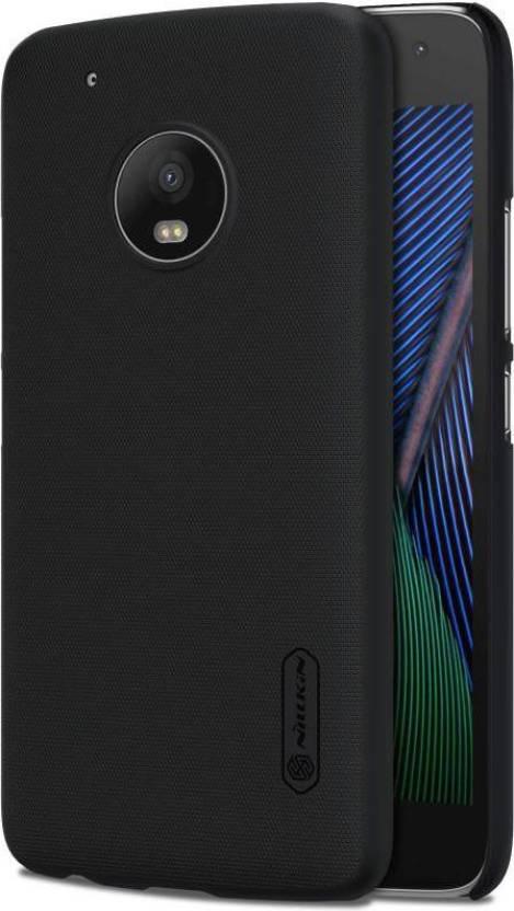Nillkin Back Cover for Motorola Moto G5 Plus (Black, Plastic)