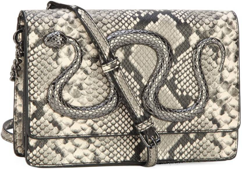 1c858229968 Buy ALDO Sling Bag Bone Black Python W Gunmetal Hw Online   Best ...