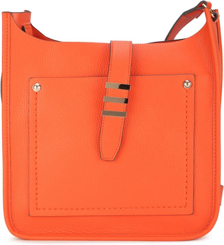3e23d216f23 ALDO Women Casual Orange PU Sling Bag Orange W Lt Gold Hw - Price in India