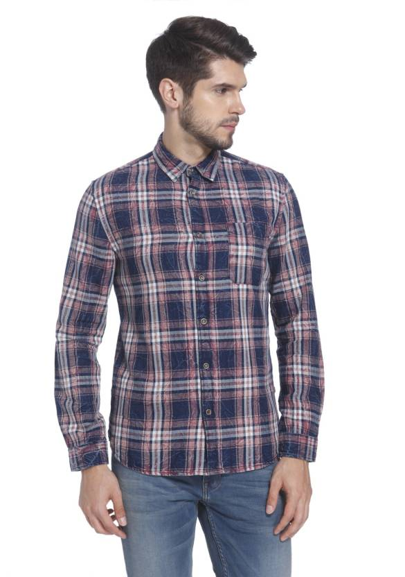 296b7c5a41 Jack   Jones Men s Checkered Casual Shirt - Buy Jack   Jones Men s  Checkered Casual Shirt Online at Best Prices in India
