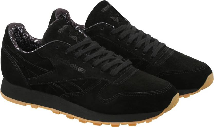 ec79d494c456d ... Black-Tin Grey-Chalk-Gum Men  REEBOK CL LEATHER TDC Sneakers For Men ...