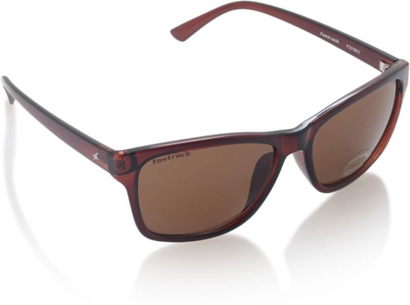 c7cbb6f3d378 Buy Fastrack Rectangular Sunglasses Brown For Men Online   Best ...