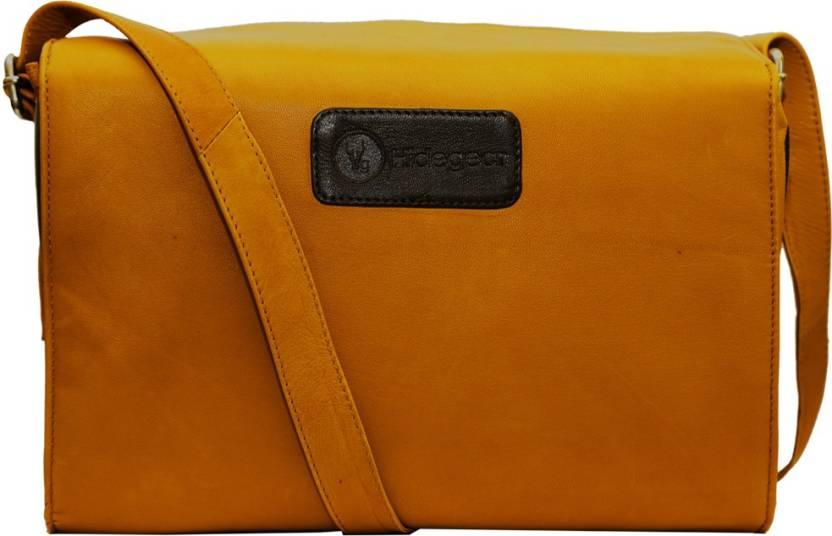 Hidegear Genuine Leather Camera Bag Tan