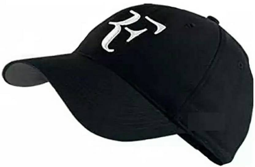 12fe49816fd15 Friendskart Striped Rf Baseball Cap In Black Colour For Boys And Mens Cap - Buy  Friendskart Striped Rf Baseball Cap In Black Colour For Boys And Mens Cap  ...