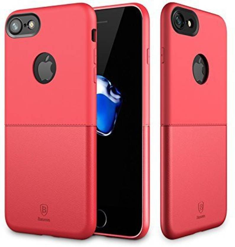 Baseus Back Cover for Apple iPhone 7 (Red, Leather)