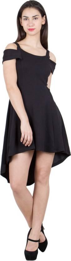 G & M Collections Women's A-line Black Dress