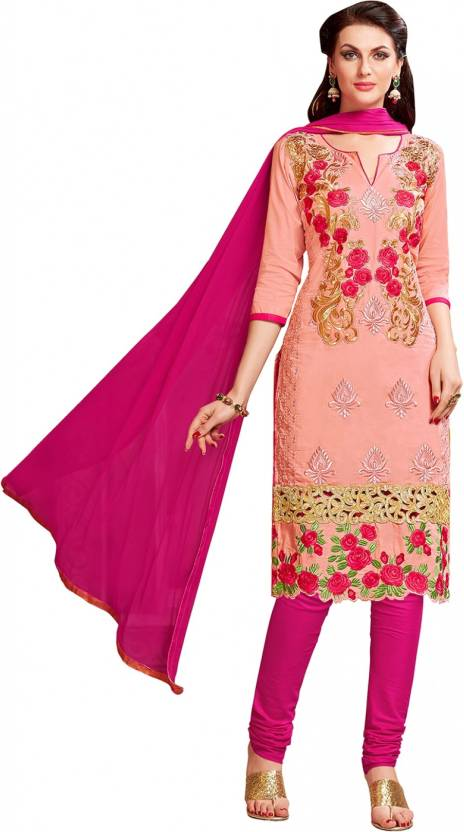 3e7b5ac925 Exclusive Fancy Designer Salwar Suit Cotton Embroidered Kurta & Churidar  Material (Un-stitched)