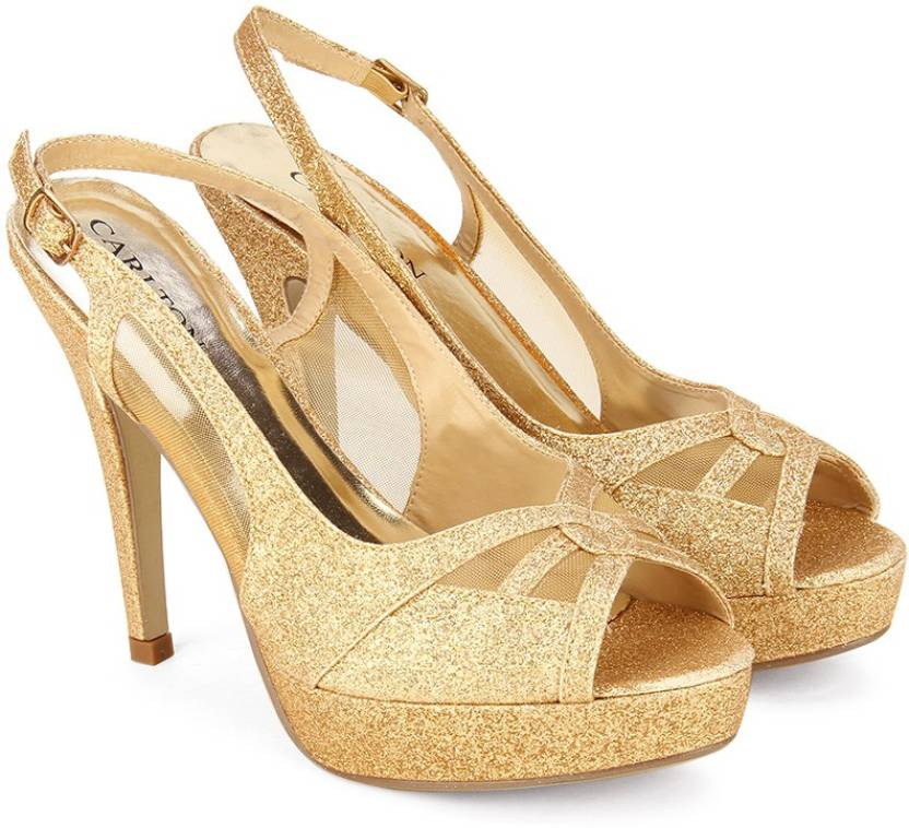 872ee16dc5 Carlton London Women GOLD Heels - Buy GOLD Color Carlton London Women GOLD  Heels Online at Best Price - Shop Online for Footwears in India |  Flipkart.com