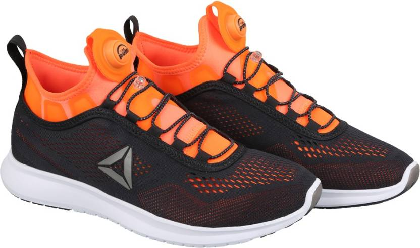 0b0087ed1ee REEBOK PUMP PLUS TECH Running Shoes For Men - Buy LEAD ORANGE WHITE ...