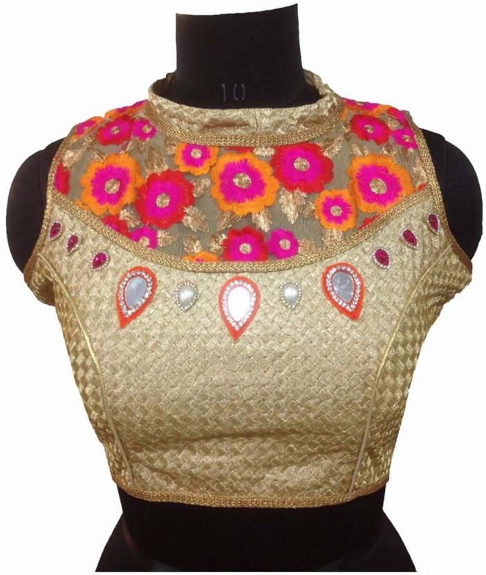 e5a13ecbbd550 Shreeji Designer Fashion Neck Women s Stitched Blouse - Buy Shreeji  Designer Fashion Neck Women s Stitched Blouse Online at Best Prices in  India