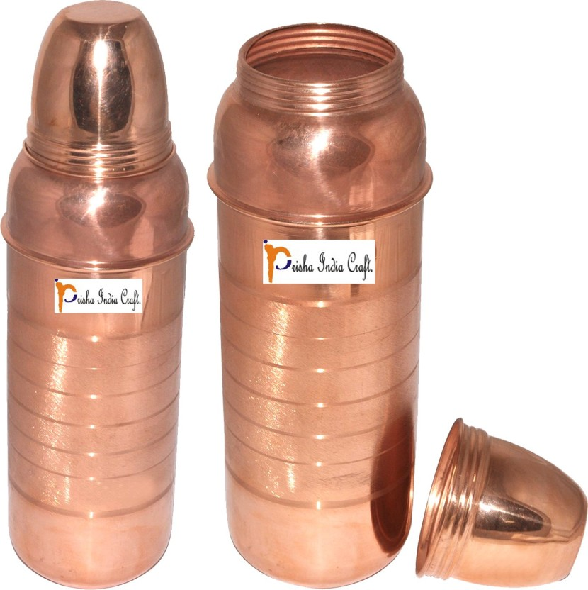Indian Hammered Traditional Pure Copper Water Bottle Yoga Health Benefits 900 ML