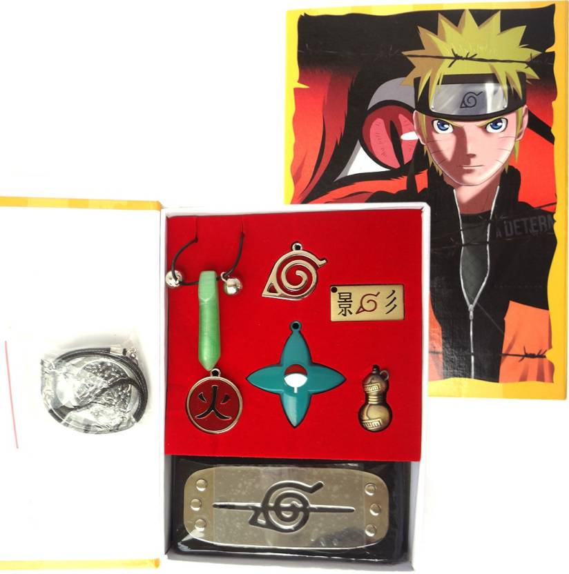 ComicSense Naruto 7pc Collectible Set Necklace - Headband - Key Chain