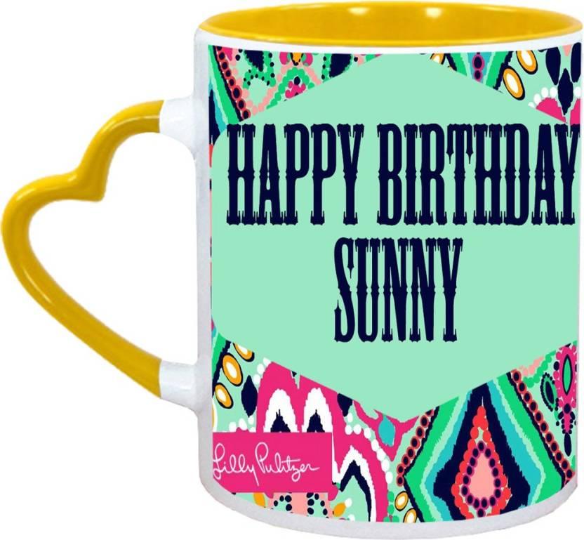 Muggies Magic Sunny Name Happy Birthday Gift Ceramic Mug 325 Ml