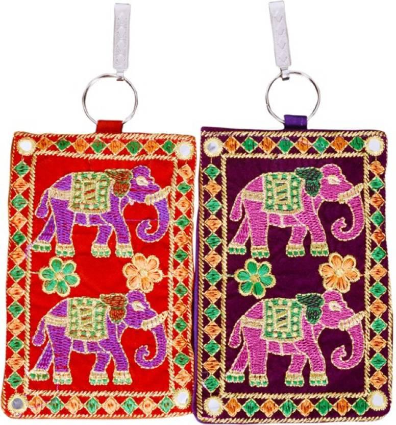 Craft Trade Craft Trade Elephant Design Mobile Pouch C Mobile