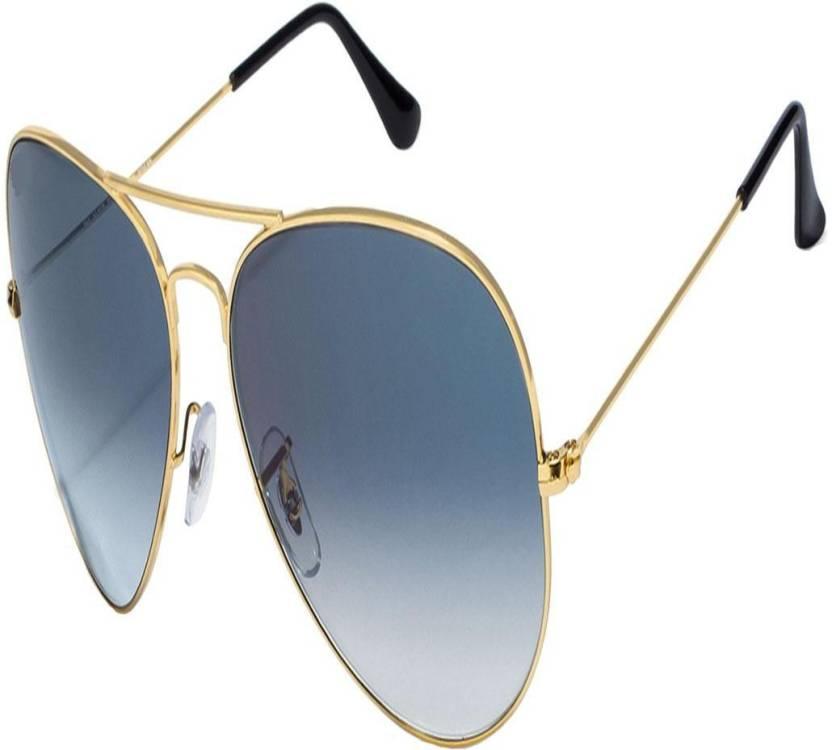 2190ff47931d Buy UrBazaar Aviator Sunglasses Blue For Men   Women Online   Best ...