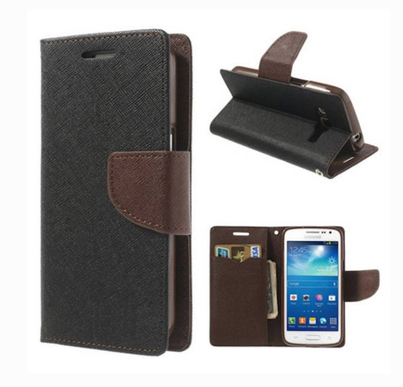Yofashions Flip Cover for Samsung Galaxy J7 Prime Black Brown